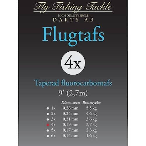 Darts Flugtafs Fluorocarbon 9' 1X Taperad