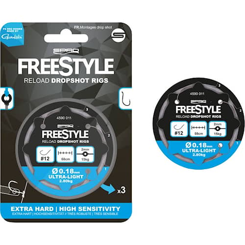 SPRO Freestyle Reload Dropshot Rig #4 0,28 mm 3-pack
