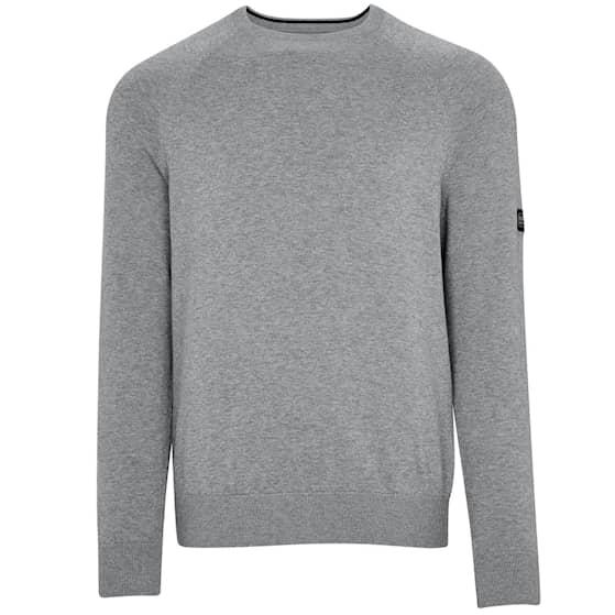 B.Intl Cotton Crew Neck Sweater, Anthracite Marl, S