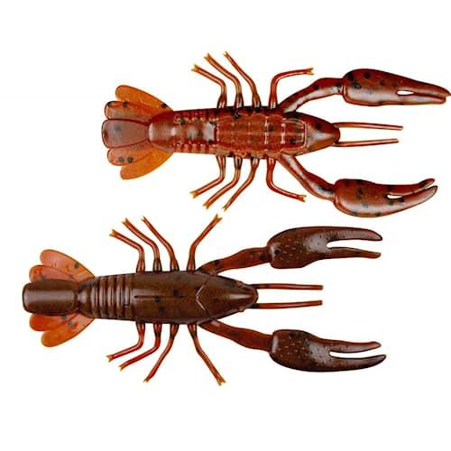 Yum Ned Craw 6 cm Dark Brown/Red Brown 7-pack