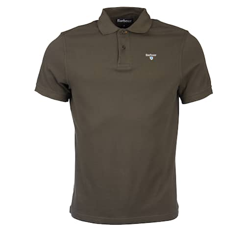 Barbour Sports Polo Olive Herr - L
