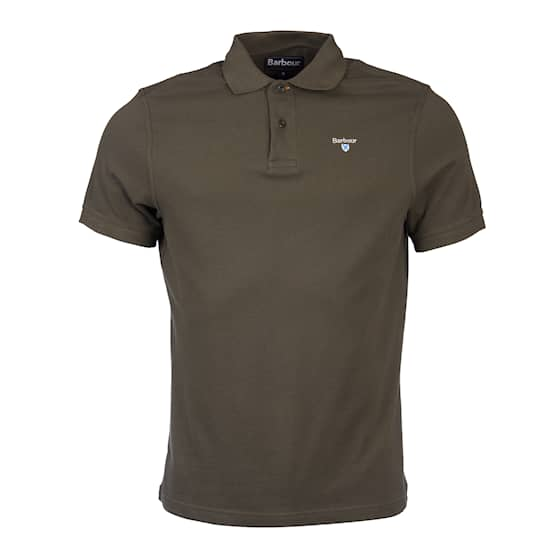 Barbour Sports Polo Olive Herr