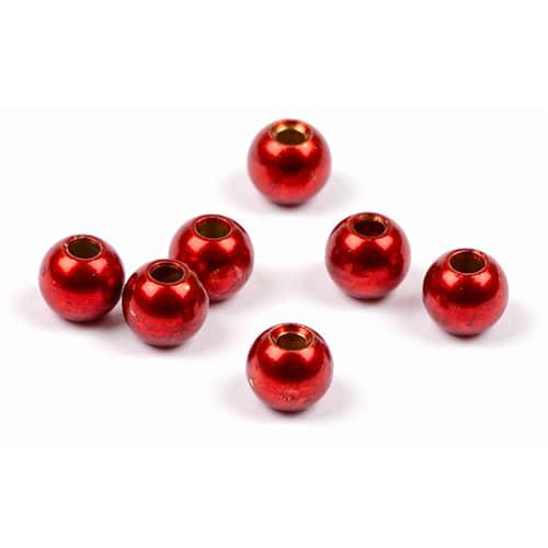 Darts Metal Bead 8 mm Red 5-pack