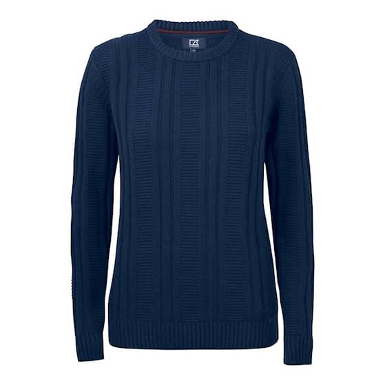 Cutter & Buck Elliot Bay Stickad tröja Marinblå Dam