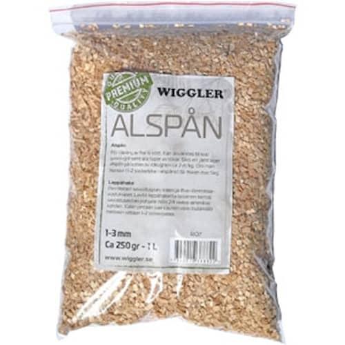 Wiggler Rökspån 250 g Alspån av premiumkvalitet