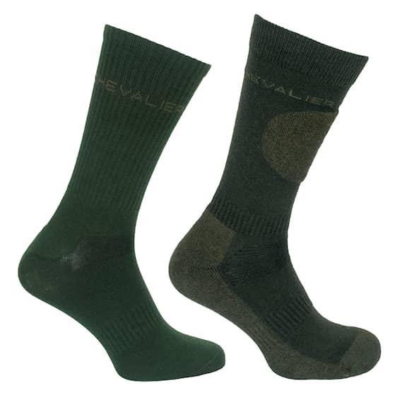 Chevalier Combi sock 2-pack Dark Green
