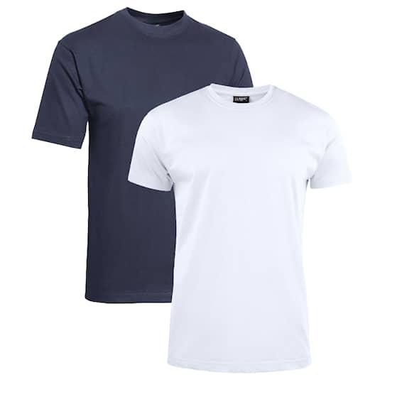 Clique T-shirt 2-pack blå/vit