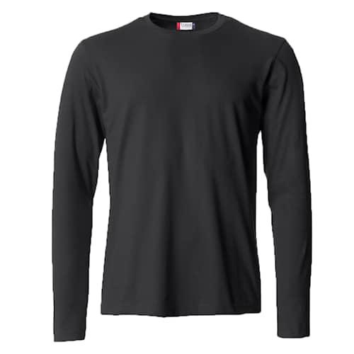 Clique Basic Långärmad tröja Svart - 4XL