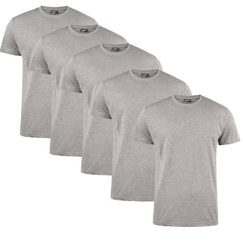 Clique T-shirt Herr 5-pack Gråmelerad