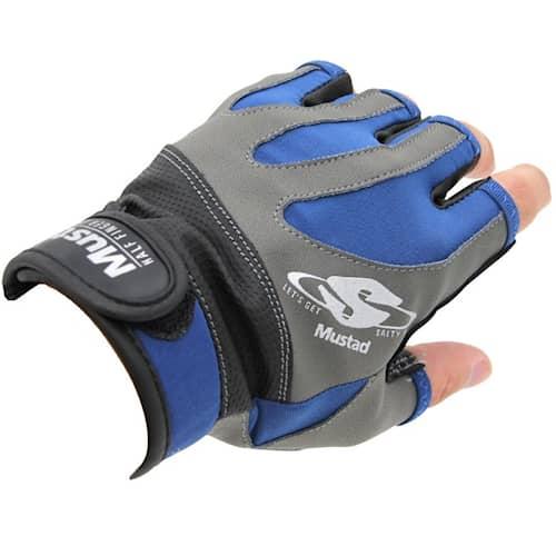 Mustad Half Finger Casting Gloves S