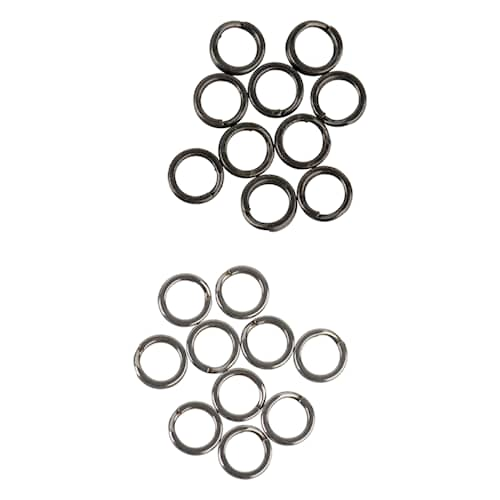 SG Stainless Splitring Mix 7 mm 20-pack