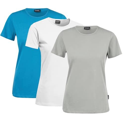 Clique T-shirt Dam 3-pack Mix