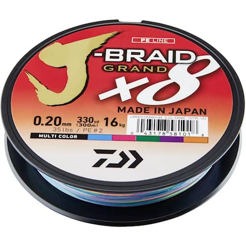Daiwa J-Braid Grand X8 0,28 mm 300 m Multi Coloured