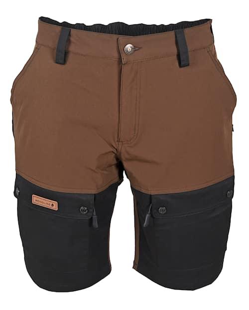 Woodline Shorts Boksund Brun/Svart S