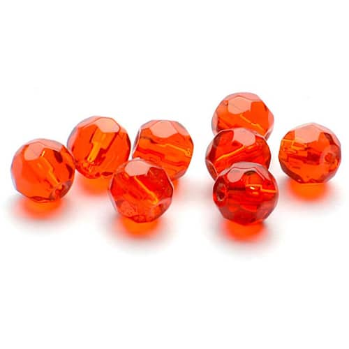 Darts Glass Bead 6 mm Facet Red 9-pack
