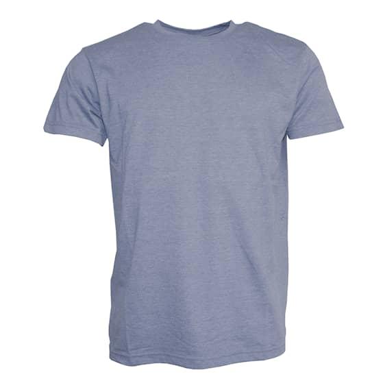 Clique T-shirt Herr Mellanblå Melerad