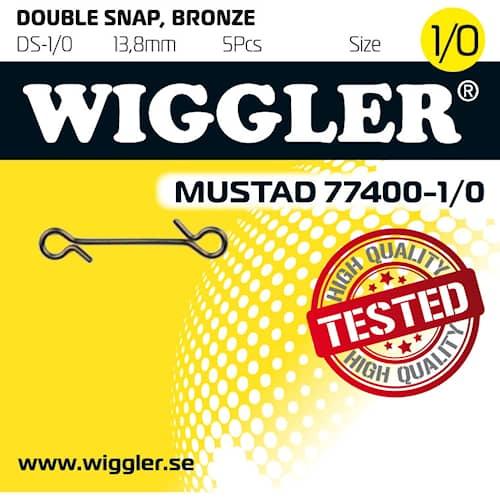 Wiggler Dubbel Snap 1/0 5-pack