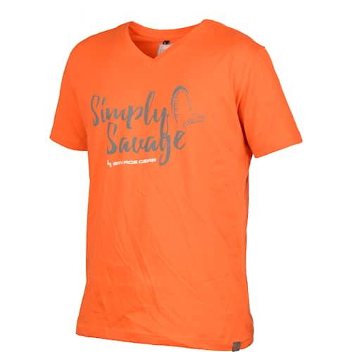 SG Simply Savage V-neck Tee Orange S