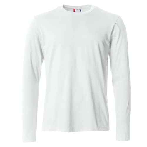 Clique Basic Långärmad tröja Vit - 4XL