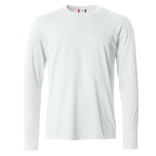 Clique Basic Långärmad tröja Vit - XXL