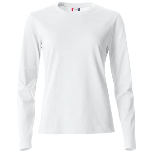 Clique Basic Långärmad tröja Vit Dam - L
