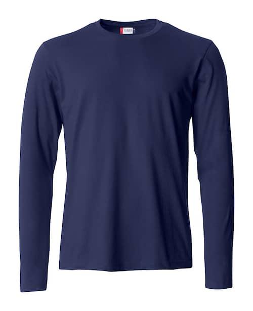 Clique T-shirt Långärm Navy Herr 4XL