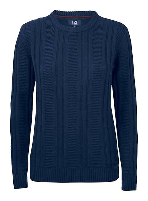 Cutter & Buck Elliot Bay Stickad tröja Marinblå Dam XS