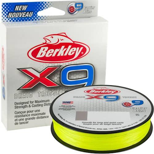 Berkley X9 0,08 mm 150 m Flame Green