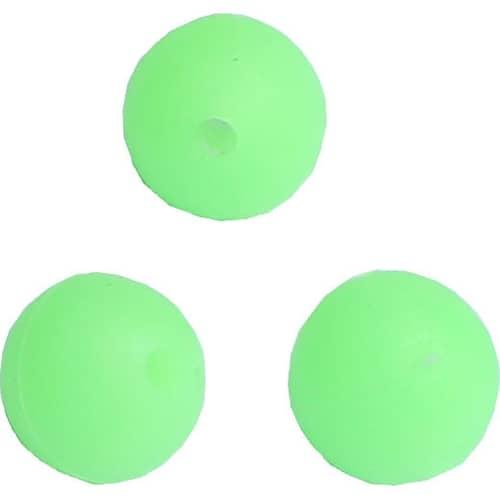 Wiggler Soft Beads Glow Green 14 mm 10-pack