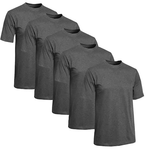 Clique T-shirt Herr 5-pack Grå