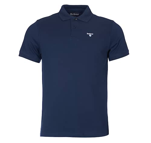 Barbour Sports Polo Navy Herr - L
