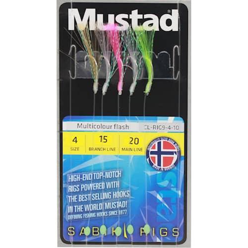 Mustad Multicolour flash rig #4