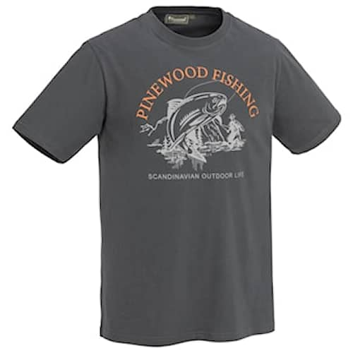 Pinewood Fish D.Anthracite T-shirt Herr M