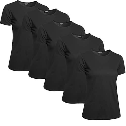 Clique T-shirt Dam 5-pack Svart