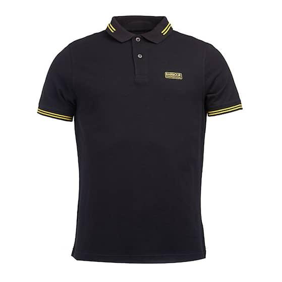 B.intl Essential Tipped Polo, Black