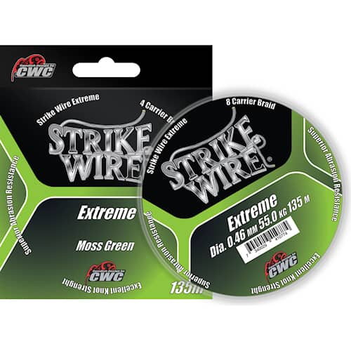 Strike Wire Extreme 0,10 mm 135 m Moss Green