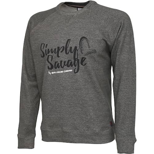 SG Simply Savage Sweater Grey Mélange