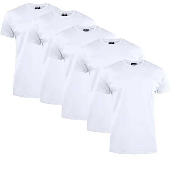 Clique T-shirt Herr 5-pack Vit