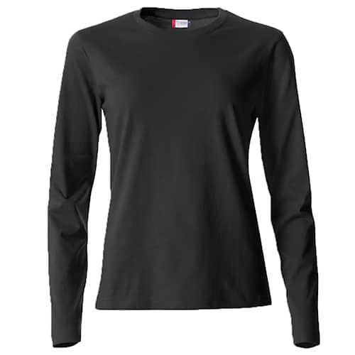 Clique Basic Långärmad tröja Svart Dam - XS