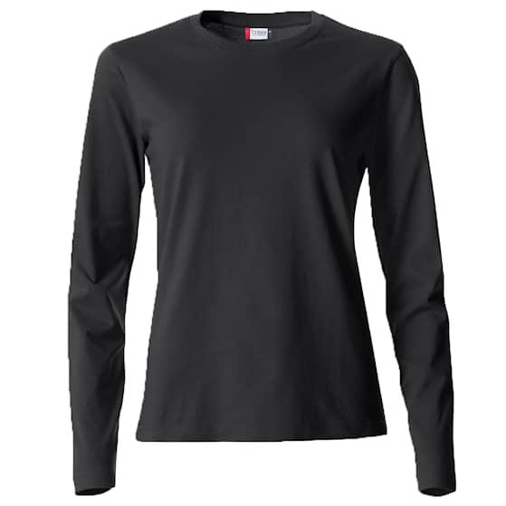 Clique Basic Långärmad tröja Svart Dam