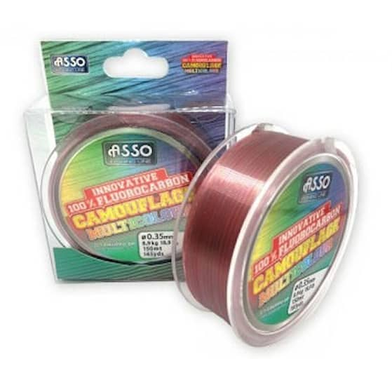 Asso Camouflage Fluorocarbon 0,45 mm Fiskelina