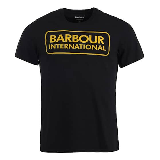 B.Intl Essential Large Logo Tee, Black/Yellow, S