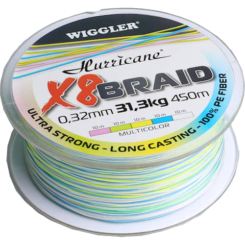 Hurricane X8 Braid 0,38 mm 450 m Multicolor