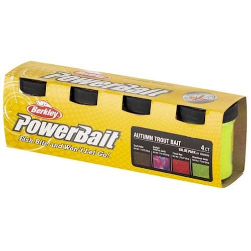 Powerbait Trout Bait Value Pack Autumn 4-pack